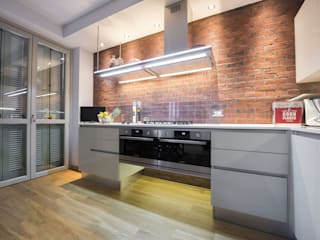 Industrial style kitchen by B&B Rivestimenti Naturali Industrial Bricks