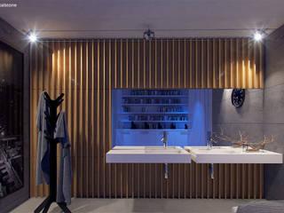 Nowoczesna umywalka Cristalstone z odpływem liniowym, kolekcja Linea Ideal: styl , w kategorii Łazienka zaprojektowany przez Cristalstone,