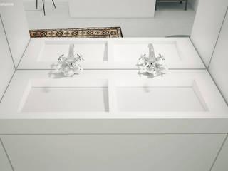 Minimalistyczna łazienka z Sztokholmie: styl , w kategorii Łazienka zaprojektowany przez Cristalstone,