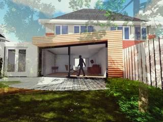Aanbouw Woning Assen: scandinavische Huizen door FOSP Architecten