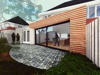 Aanbouw Woning Assen: scandinavische Garage/schuur door FOSP Architecten