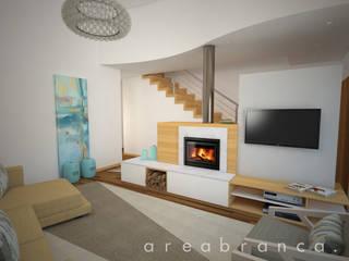 Projeto IP Salas de estar modernas por Areabranca Moderno
