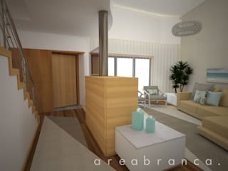 Projeto IP Corredores, halls e escadas modernos por Areabranca Moderno