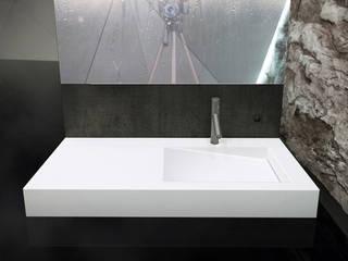 Umywalka z kolekcji Cristalstone Linea Ideal z odpływem liniowym: styl , w kategorii Łazienka zaprojektowany przez Cristalstone,