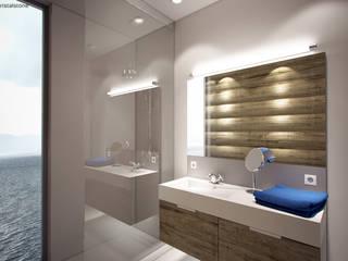 Minimalistyczna łazienka w Lozannie: styl , w kategorii Łazienka zaprojektowany przez Cristalstone,