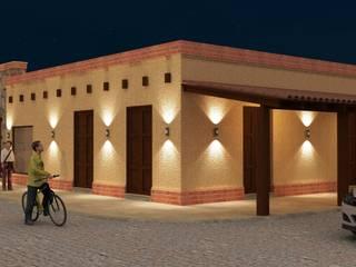 Proyecto de remodelación: Galerías y espacios comerciales de estilo  por Valy,Rústico