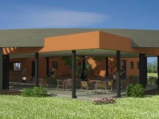 Proyecto de Confitería y Vestuarios con Sala de Emergencias para un club: Casas de estilo  por Valy,Moderno