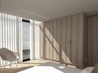 臥室 by NUNO DURAO ARQUITECTOS, 現代風