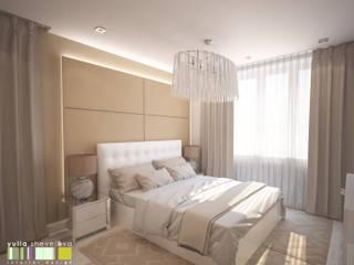 ミニマルスタイルの 寝室 の Мастерская интерьера Юлии Шевелевой ミニマル
