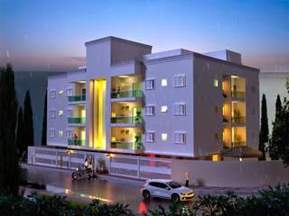 Prédio Residencial - Jaguariuna Vitruvius 3D Casas modernas Concreto Branco