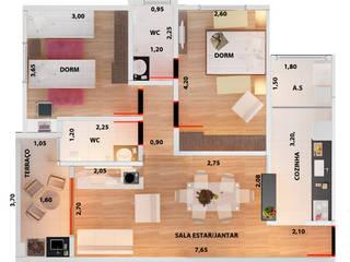 Prédio Residencial - Jaguariuna Vitruvius 3D