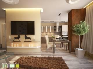 Minimalist living room by Мастерская интерьера Юлии Шевелевой Minimalist