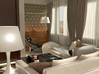Reforma de Apartamento Vitruvius 3D Sala de estarAcessórios e Decoração Fibra natural Castanho