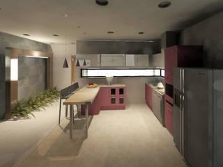 Cocina abierta: Cocinas de estilo moderno por CAXÁ studio