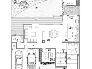 Planta Baja: Casas de estilo  por HF Arquitectura