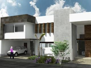 Fachada Principal: Casas de estilo  por HF Arquitectura
