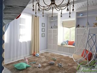 Chambre d'enfant moderne par Компания архитекторов Латышевых 'Мечты сбываются' Moderne