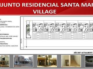 CONJUNTO RESIDENCIAL SANTA MARIA VILLAGE: Casas de estilo moderno por ARQUITECTURA DIGITAL