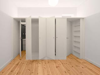 Quarto principal: Quartos minimalistas por Tiago Filipe Santos - Arquitetura