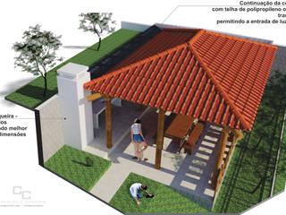 Quiosque Casas rústicas por Candido & Candido - Arquitetura | Engenharia Rústico