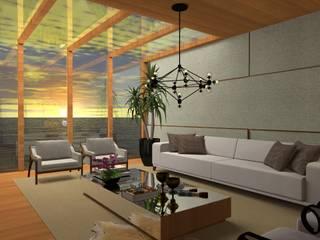 Casa de Verão com Ares contemporâneos Salas de estar modernas por Gláucia Brito Interiores Moderno