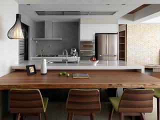 l 河岸邊邊 l 賀澤室內設計 HOZO_interior_design 現代廚房設計點子、靈感&圖片