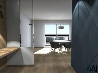 Pasillos, vestíbulos y escaleras de estilo moderno de Agence 4ai Moderno
