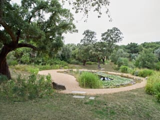 Garden with natural swimming pool Atelier Jardins do Sul 庭院