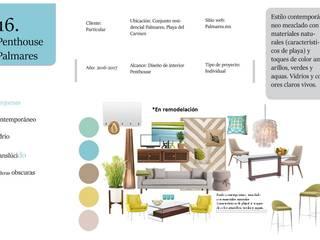 Moodboard general: Concepto: Recámaras de estilo topical por Andrea Loya