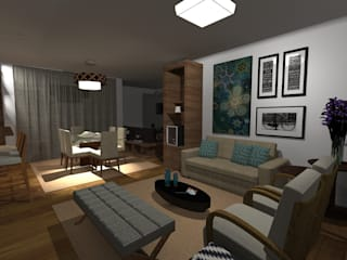 Apartamento 119m:   por Nadia Dickel interiores,Moderno