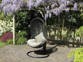 Oxford hanging rattan weave chair:   by World Of Weave UK Ltd