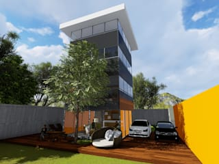 Perspectiva - Pátio e Jardim:   por Nimbus | Arquitetura