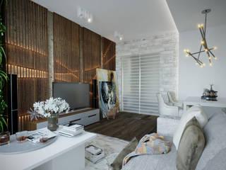 Студия дизайна Натали Хованской Industrial style living room