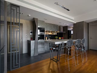 Cocinas de estilo moderno de 藻雅室內設計 Moderno