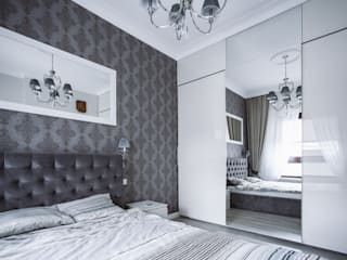 R-design pracownia architektoniczna Modern style bedroom Purple/Violet