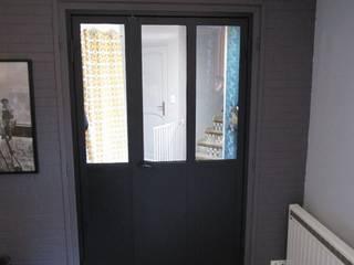 porte tierce type atelier d'artiste metallerie swiatek Salon industriel Fer / Acier Noir