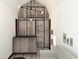 Tiny House: Salon de style de style Industriel par Ophélie Dohy architecte d'intérieur