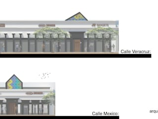 CCA. Centro Comercial A: Centros Comerciales de estilo  por Arq German Tirado S