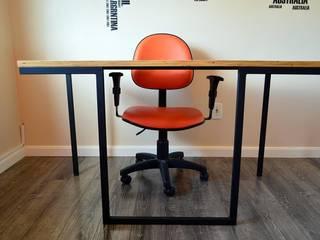 Mesa para escritório por PORTO PROJETOS METÁLICOS Rústico