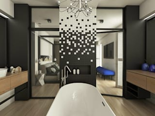 Baños de estilo moderno de emc|partners Moderno