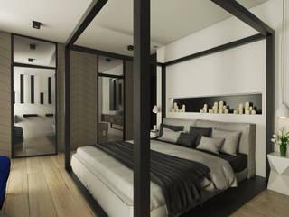 Nowoczesne wnętrza: styl , w kategorii Sypialnia zaprojektowany przez emc|partners