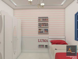: Recámaras infantiles de estilo moderno por Ao Cubo Arquitetura e Interiores