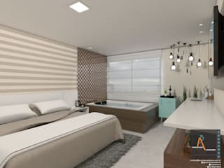 : Recámaras de estilo moderno por Ao Cubo Arquitetura e Interiores