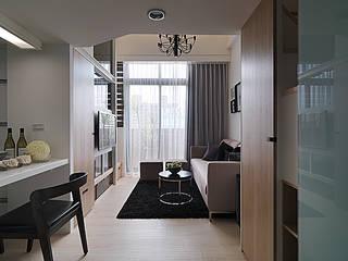 浪漫情挑紐約上城風 现代客厅設計點子、靈感 & 圖片 根據 大集國際室內裝修設計工程有限公司 現代風