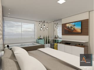 Cuartos de estilo  por Ao Cubo Arquitetura e Interiores,