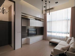 Salas de estilo moderno de 大集國際室內裝修設計工程有限公司 Moderno