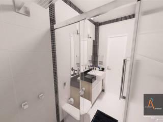 Baños de estilo  por Ao Cubo Arquitetura e Interiores,