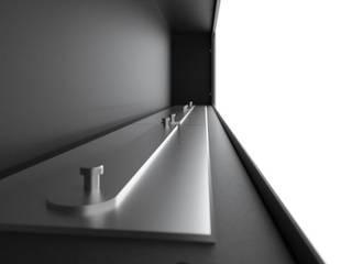Biokominek Frame 1800 mm Nowoczesny salon od Hanoo Nowoczesny
