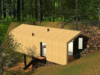 """""""Wood House"""" - Casa em Madeira : Casas modernas por Daniel Antunes"""