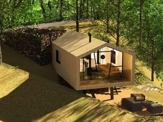 """""""Wood House"""" - Casa em Madeira Casas modernas por Daniel Antunes Moderno"""